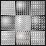 Sidor för tapetsilver- och svartabstrakt begrepp Arkivfoto