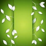 sidor på den gröna bakgrunden vektor illustrationer