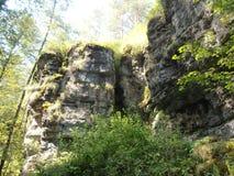 Sidor stenar, solstrålar royaltyfria bilder