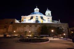 Sidosikt av den verkliga basilikan de san Francisco el Grande Arkivfoton