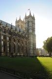 Sidosikt av den Westminster abbotskloster, London, UK - September 29, 2012 Arkivfoton