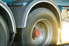 Sidosikt av hjul Arkivfoton