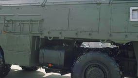 Sidosikt av taktisk iskander-m för system för ballistisk missil lager videofilmer