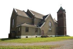 Sidosikt från en gammal övergiven kristen kyrka royaltyfri foto