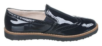 Sidosikten av svart och brunt lackad manlig sommar för läder startar Arkivbild