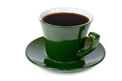 Sidoskott av den gröna kaffekoppen Royaltyfri Fotografi