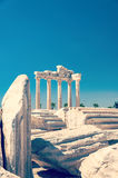 Sidotempel av Apollo Ruins royaltyfri fotografi