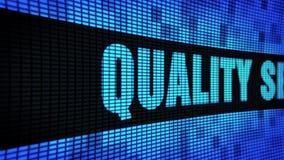 Sidotext för kvalitets- service som bläddrar det LEDDE brädet för tecken för väggpanelskärm stock illustrationer