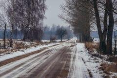 Sidoväg i Polen Arkivfoto