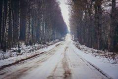 Sidoväg i Polen Arkivfoton