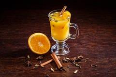 Sidra caliente de la naranja de la manzana Imagen de archivo