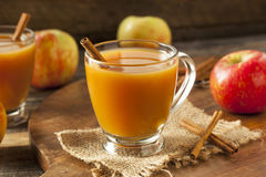 Sidra de maçã quente morna fotografia de stock