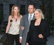 Sidsel Robards, Sam Robards and Lauren Bacall Stock Photo