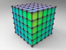 Sieć atomy ilustracja wektor