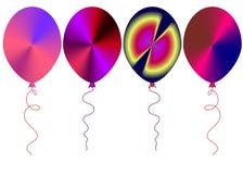 Sieć barwiący balony setu zwierz?cy ilustracyjny wektor ilustracji