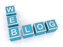 Sieć blog Zdjęcie Stock