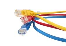 Sieć ethernety Cabl Zdjęcie Stock