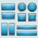Sieć glansowani Błękitny guziki Obraz Stock