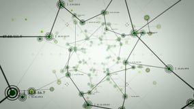 Sieć guzki Zielony Lite ilustracji