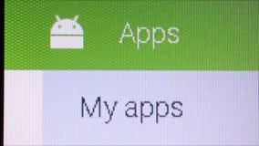 Sieć i App Makro- zakończenie Up: Google sztuki androidu sklep zbiory