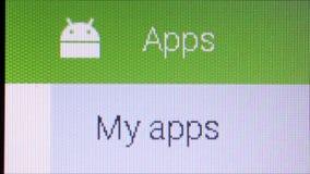 Sieć i App Makro- zakończenie Up: Google sztuki androidu sklep zbiory wideo