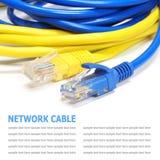 Sieć interneta kabel odizolowywający na białym tle obrazy royalty free