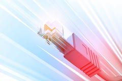 Sieć kabel royalty ilustracja