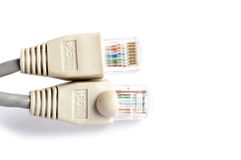 Sieć kabel na białym tle fotografia stock
