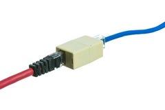 Sieć kabel z RJ45 odizolowywa fotografia stock
