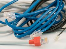 Sieć kable zdjęcie stock