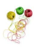 Sieć kolorowe piłki wełna Zdjęcie Royalty Free