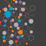 Sieć koloru technologii komunikaci tło Zdjęcia Stock
