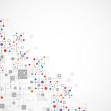 Sieć koloru technologii tło ilustracja wektor