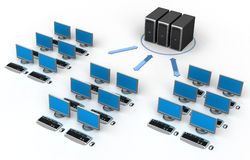 sieć komputerowa ilustracja wektor