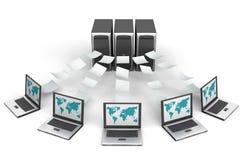sieć komputerowa ilustracji
