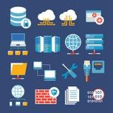 Sieć komputerowa i baza danych ilustracji