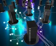 Sieć Komputerowy magazyn Pokazuje sieć I Digital Online ilustracja wektor