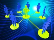 Sieć ludzie Reprezentuje Globalne komunikacje I komputer ilustracji
