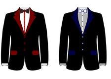 Sieć mężczyzn kurtka Kolekcja ?lubny m??czyzna ` s kostium, smoking r?wnie? zwr?ci? corel ilustracji wektora royalty ilustracja