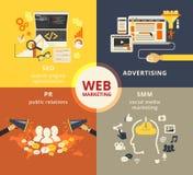 Sieć marketing ilustracji