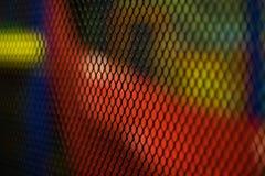 Sieć na barwionym tle Selekcyjna ostrość zdjęcia stock