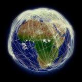 Sieć nad Afryka royalty ilustracja