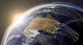 Sieć nad Australia royalty ilustracja