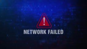 Sieć Nie udać się Raźny Ostrzegawczy błąd wiadomości mruganie na ekranie royalty ilustracja