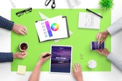 Sieć projekta drużyny konferencja o nowym sieć projekcie dla klienta obraz royalty free