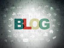 Sieć projekta pojęcie: Blog na Digital papierze Obrazy Royalty Free