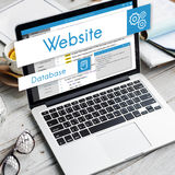 Sieć projekta strony internetowej cyfrowania pojęcie obraz royalty free