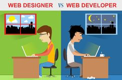 Sieć projektant vs sieć przedsiębiorca budowlany Zdjęcia Stock