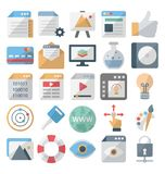 Sieć rozwój i projekt odizolowywaliśmy wektorowe ikony ustawiamy editable ilustracja wektor