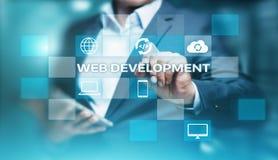 Sieć rozwoju cyfrowania programowania technologii biznesu Internetowy pojęcie obrazy stock
